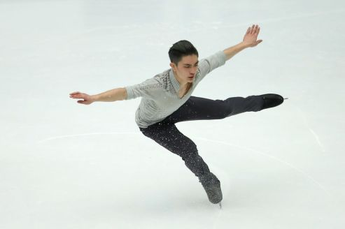 BEIJING, CHINA - NOVEMBER 03: Yan Han of China performs in the Men Short Program on day one of Audi Cup of China ISU Grand Prix of Figure Skating 2017 at Beijing Capital Gymnasium on November 3, 2017 in Beijing, China. (Photo by Lintao Zhang - ISU/ISU via Getty Images)